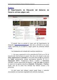 El pasado lunes se estren la nueva web del Dpto de ... - Navarra