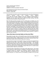 Black Hills State University Safety and Security Office