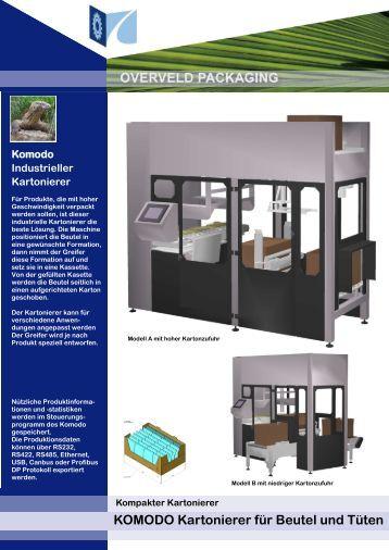 Kartonierer KOMODO - Caldera Verpackungstechnik GmbH