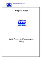 BLACK ECONOMIC EMPOWERMENT POLICY - Umgeni Water