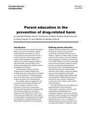 Parent education in the prevention of drug-related harm - DrugInfo
