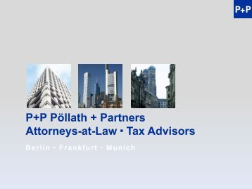 Tax Considerations for German Investors – 287 KB - P+P Pöllath + ...