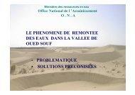 LE PHENOMENE DE REMONTEE DES EAUX DANS LA ... - INBO