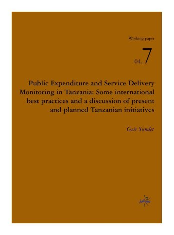 Public Expenditure and Service Delivery Monitoring in ... - IIEP