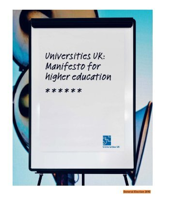Manifesto for Higher Education - Universities UK