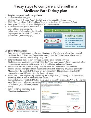 4 easy steps to compare and enroll in a Medicare Part D drug plan 1 ...