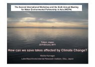 How can we save lakes affected by Climate Change? - WEPA