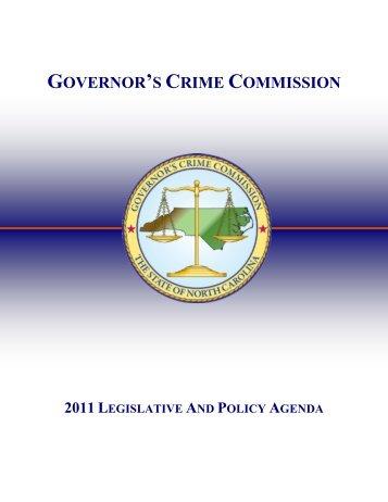GCC 2011 Legislative and Policy Agenda - North Carolina ...