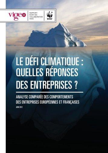 le défi climatique : quelles réponses des entreprises - Vigeo
