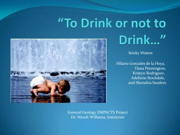 """""""To Drink or not to Drink…"""" - Faculty Web Pages"""