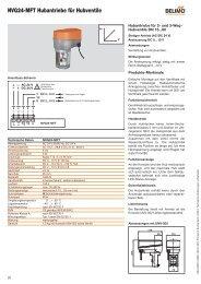 NVG24-MFT Hubantriebe für Hubventile - - Belimo