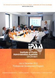 core skills for the public sector - Ipaa Sa Division