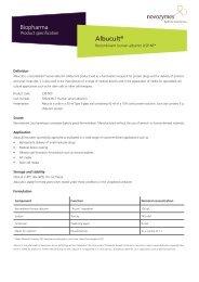 Albucult® - Novozymes Biopharma