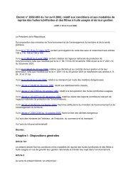 Décret n° 2002-693 du 1er avril 2002, relatif aux conditions ... - REME