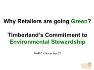 Why Retailers are going Green? Timberland's ... - Reed Midem