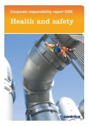 Health and Safety - Centrica