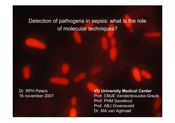 Detection of pathogens in sepsis: what is the role of molecular ...