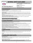 MATERIAL SAFETY DATA SHEET Hi-Yield® Bug ... - WP Law, Inc. - Page 2