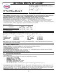 MATERIAL SAFETY DATA SHEET Hi-Yield® Bug ... - WP Law, Inc. - Page 3
