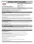 MATERIAL SAFETY DATA SHEET Hi-Yield® Bug ... - WP Law, Inc. - Page 4
