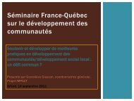 Document PDF - Réseau québécois des villes et villages en santé