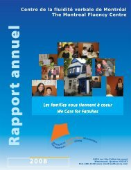 Rapport annuel 2008 - Montreal Fluency