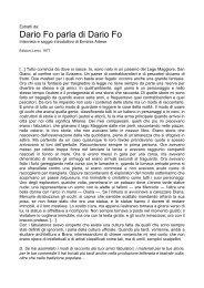 Dario Fo parla di Dario Fo - Dipartimento di Storia dell'Arte e ...