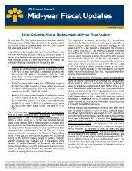 British Columbia, Alberta, Saskatchewan: Mid-year Fiscal ... - VMBL