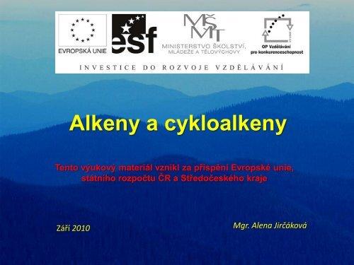 Alkeny a cykloalkeny