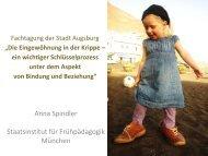 Anna Spindler Staatsinstitut für Frühpädagogik München