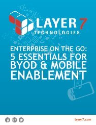 BYOD & MOBILE - Layer 7 Technologies