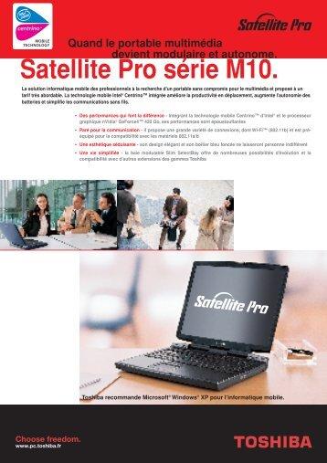 Satellite Pro série M10. - Toshiba