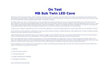 On Test MB Sub Twin LED Cave