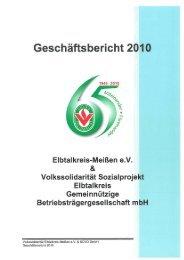 Geschäftsbericht 2010 - Volkssolidarität Bundesverband e.V.