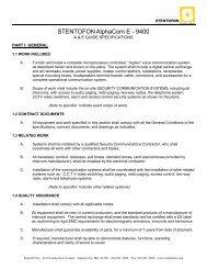 9400 Specifications - Zenitel