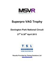 Donington - VAG Trophy