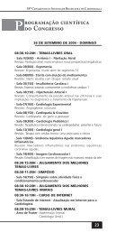 programa de Bolso.pmd - 66 Congresso Brasileiro de Cardiologia