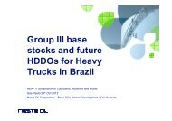Gp3 base stocks and future HDDOs for Brazil