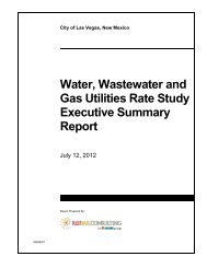Water, Waste Water and Gas Rate Study Report - City of Las Vegas ...