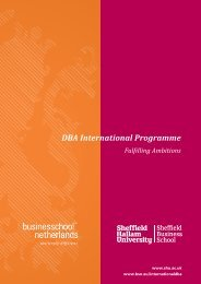 DBA International Programme - Business School Netherlands