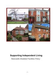 Supporting Independant Living - Newcastle City Council
