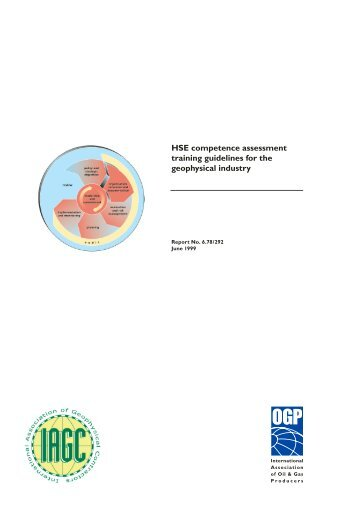 HSE competence assessment and training guidelines