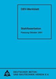 DBV-Merkblatt Stahlfaserbeton - Deutscher Beton- und Bautechnik ...