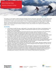 Summary of Research Findings - Canadian Tourism Commission ...
