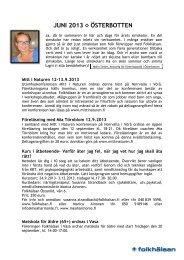 Nyhetsbrev 6/2013 - Folkhälsan