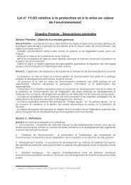Loi n° 11-03 relative à la protection et à la mise en valeur de l ... - estis