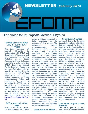 Newsletter February 2013 - European Federation of Organisations ...