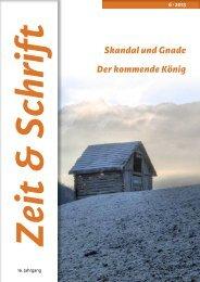 Heft 6/2013 - Zeit & Schrift