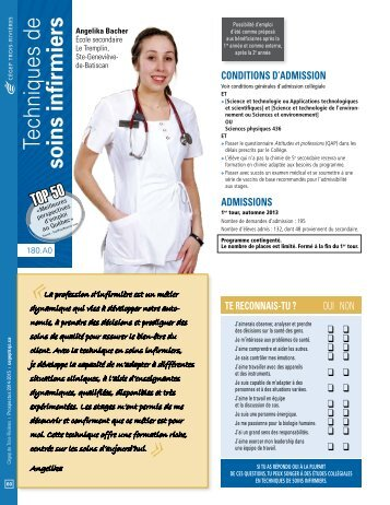 Fiche descriptive Soins infirmiers - Cégep de Trois-Rivières