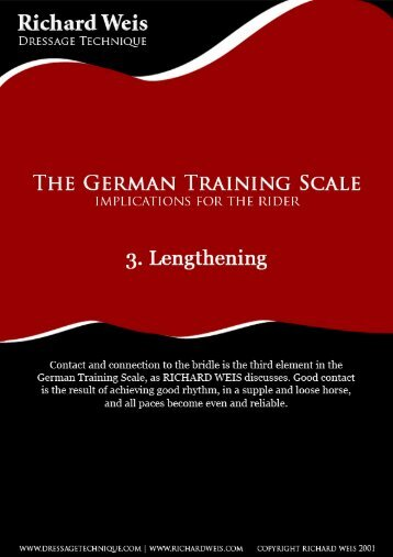 3. Lengthening - Richard Weis : Dressage Technique